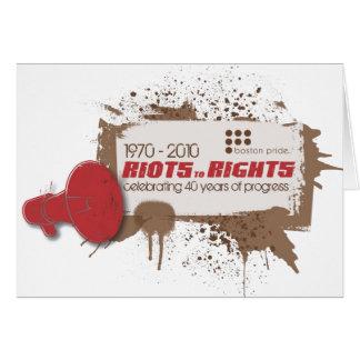 Riots Greeting Greeting Card