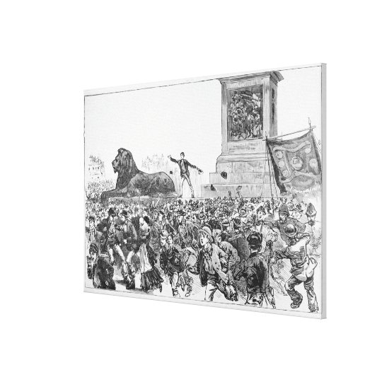 Riots in the West End of London Canvas Print