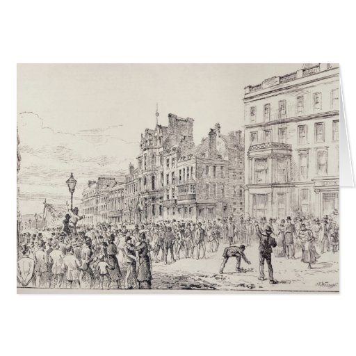 Riots in the West End of London Greeting Card