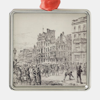 Riots in the West End of London Metal Ornament