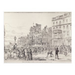 Riots in the West End of London Postcard