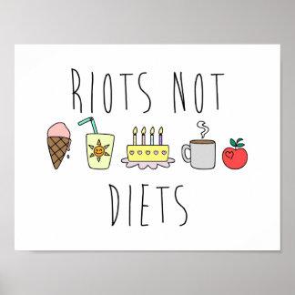 Riots Not Diets 24x24 Matte Poster