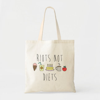 Riots Not Diets Budget Tote Budget Tote Bag