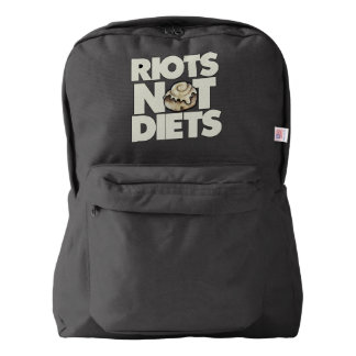 Riots not diets backpack