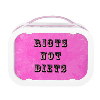 Riots Not Diets Lunch Box