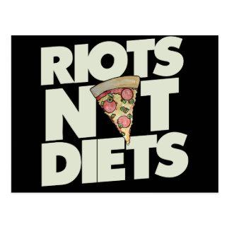 riots not diets postcard