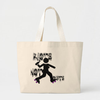Riots not Diets Tote Jumbo Tote Bag