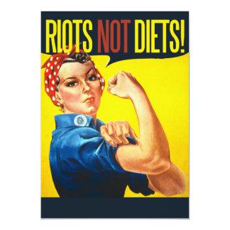 Riots not Diets - vintage feminism 5x7 Paper Invitation Card