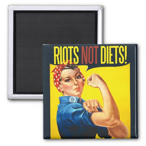 Riots not Diets - vintage feminism Magnets