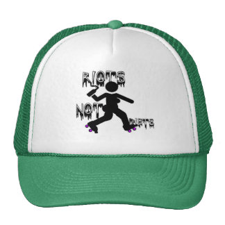 Riots Not Diets w roller derby skates Trucker Hat