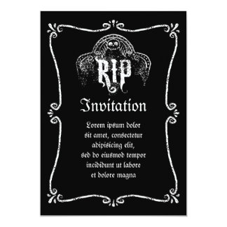 RIP 5X7 PAPER INVITATION CARD