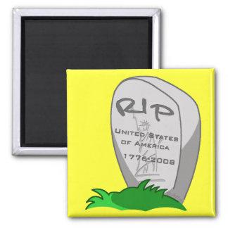 RIP America 2 Inch Square Magnet