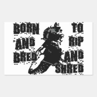 Rip And Shred Rectangular Sticker