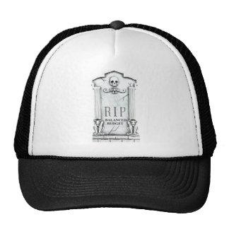 RIP BALANCED BUDGET GRAVESTONE PRINT TRUCKER HAT