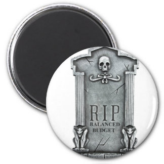 RIP BALANCED BUDGET GRAVESTONE PRINT MAGNET