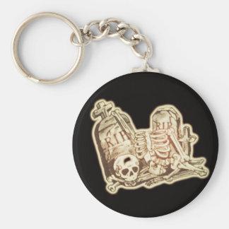 rip basic round button keychain