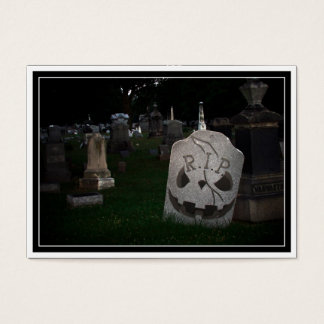 RIP Cemetery Tombstone Business Card