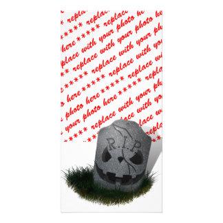 RIP Cemetery Tombstone Custom Photo Card