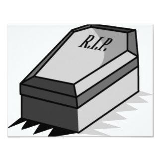 RIP Coffin 4.25x5.5 Paper Invitation Card
