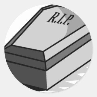 RIP Coffin Classic Round Sticker
