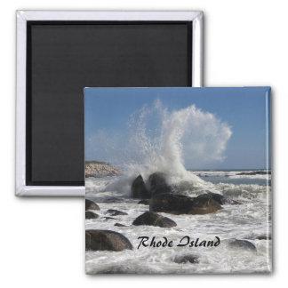Rip Curl 1, Rhode Island 2 Inch Square Magnet