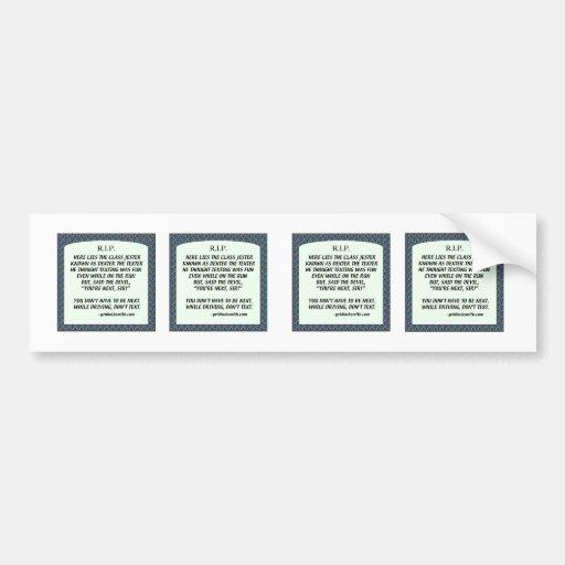 RIP-DEXTERtheTEXTER Bumper Stickers
