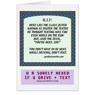 RIP-DEXTERtheTEXTER Greeting Card