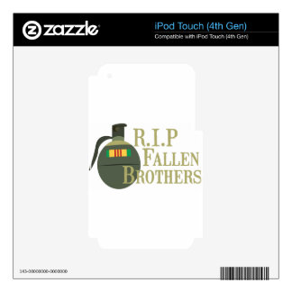 RIP Fallen Brothers Decal For iPod Touch 4G