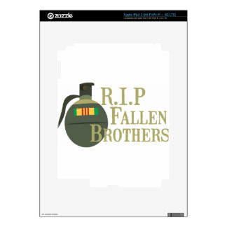 RIP Fallen Brothers Decals For iPad 3