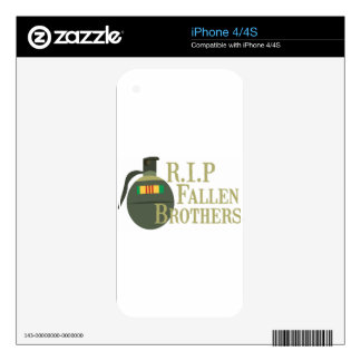 RIP Fallen Brothers Decals For The iPhone 4