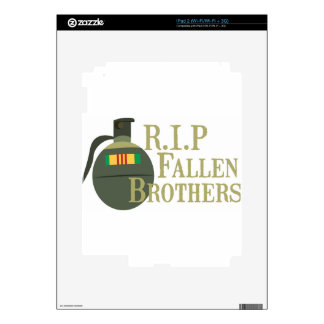 RIP Fallen Brothers iPad 2 Decal
