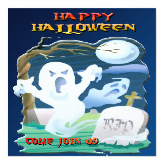 RIP Ghosts Halloween Invitation
