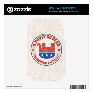 RIP-GOP iPhone 3G DECAL