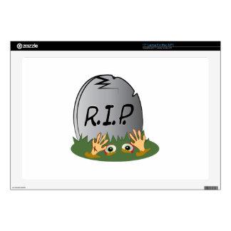 """RIP Grave 17"""" Laptop Skins"""