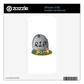 RIP Grave Decal For The iPhone 4S