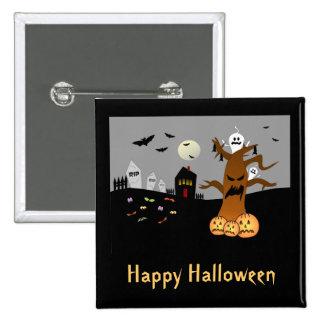 RIP Graveyard Halloween Button
