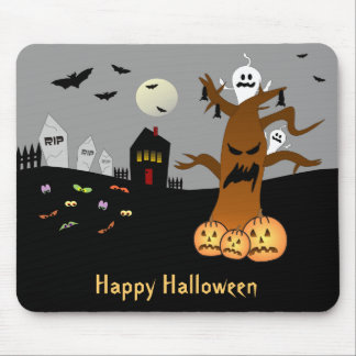 RIP Graveyard Halloween Mousepad