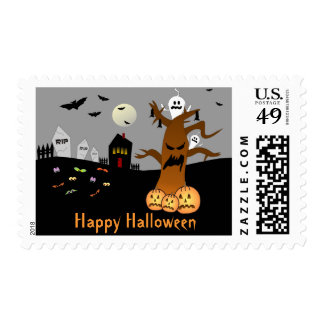 RIP Graveyard Halloween Postage