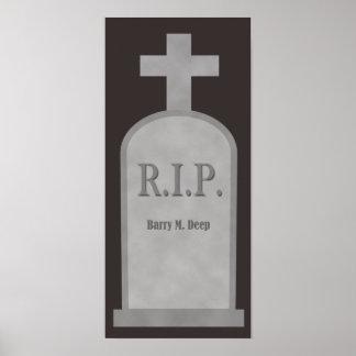 RIP Halloween Barry M. Deep Tombstone Poster