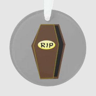RIP Halloween Coffin of Doom Acrylic Ornament