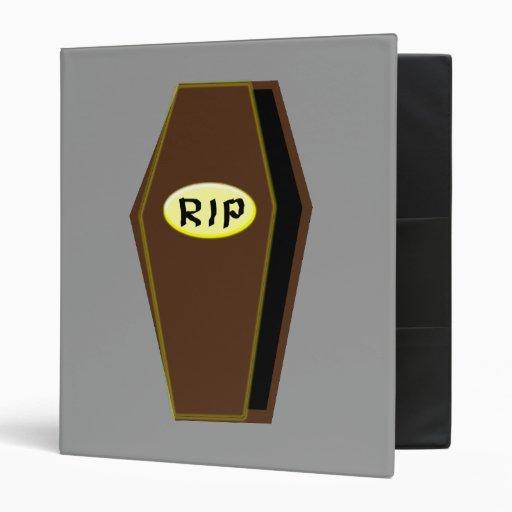 RIP Halloween Coffin of Doom Binder