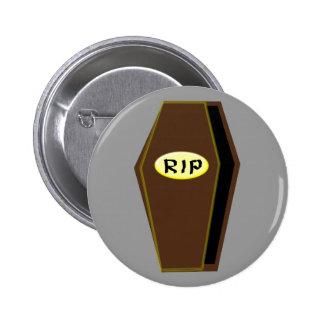 RIP Halloween Coffin of Doom Button