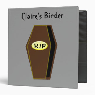 RIP Halloween Coffin of Doom Custom Binder