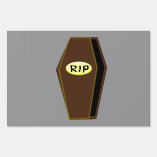 RIP Halloween Coffin of Doom Decorative Sign