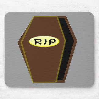 RIP Halloween Coffin of Doom Mousepad