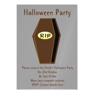 RIP Halloween Coffin of Doom Party Invites