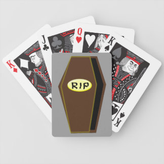RIP Halloween Coffin of Doom Playing Cards
