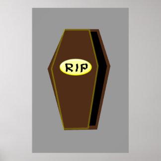 RIP Halloween Coffin of Doom Poster