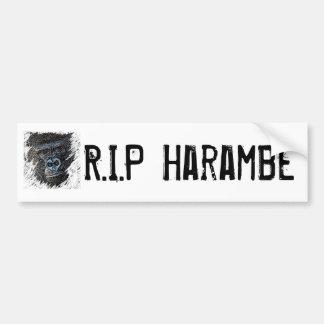 RIP Harambe Bumper Sticker