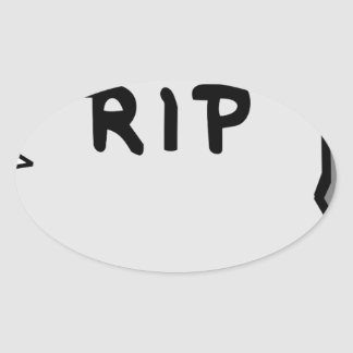 Rip Head stone Oval Sticker